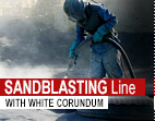 SANDBLASTING Line - WITH WHITE CORUNDUM